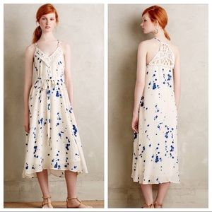 NWT Anthropologie Maeve Ink Drop Dress
